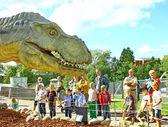 Dinosaur exhibition in Finnish Science Centre Heureka — Stock Photo