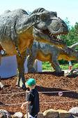 Dinosaur Tyrannosaurus Rex Head — Stock Photo