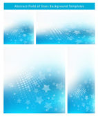 Field of Stars Background Template Set — Stock Vector