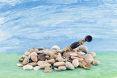 Stones and pipe — Stock Photo