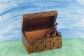 Open jewelry box — Stock Photo