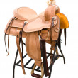 Stock Photo: Leather saddle for horses