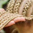 French braids — Stock Photo