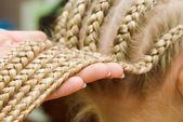 French braids — Stock Photo