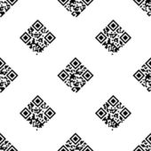 QR Code seamless pattern — Stock Vector