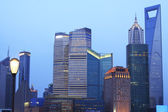 Urban landscape of the Far East Shanghai dusk blue sky — Stock Photo