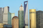 Cityscape of Shanghai Lujiazui international financial center — Stock Photo