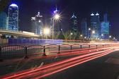 Night Light trace modern architecture background — Стоковое фото