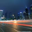 Megacity Highway at night dusk light trails in shanghai China — Stock Photo #9042838