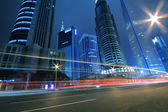 Far East Night view of Shanghai urban landscapes — Stock Photo