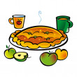 Apple Pie — Stock Vector