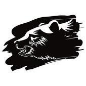 Bear head animal — Stock Vector