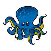 Blue Octopus — Stock Vector