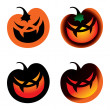 Halloween Pumpkin - vegetable horror fear burning smile — Stock Vector