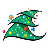 Christmas Tree holiday new year bright — Stock Vector