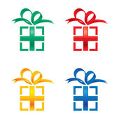 Gift Boxes present party birthday holiday — Stock Vector