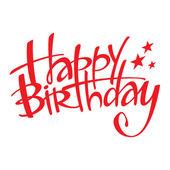Postal feliz cumpleaños vacaciones evento felicitación — Vector de stock