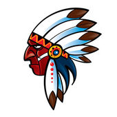 Portrait of red skin Indian Chief american native — Stock Vector
