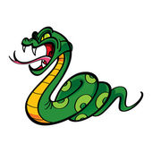 Angry Snake bite poison — Stock Vector