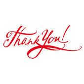 Firma gracias mensaje carta documento — Vector de stock