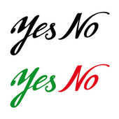 Yes No permission prohibition answer choise decision refuse — Stock Vector