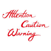 Attention Caution Warning — Stock Vector