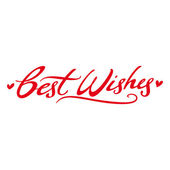 Best Wishes respect love postcard signature — Stock Vector