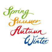 Spring Summer Autumn Winter year four seasons — Stock Vector