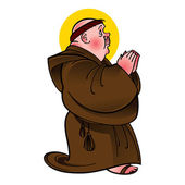 Holy Saint Monk numb catholic religion prayer — Stock Vector