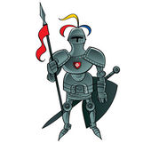 Knight Warrior soldier servant army security safety defender — Stok Vektör