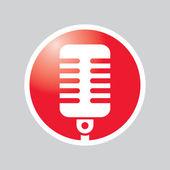 Microphone Button web design internet site logo — Stock Vector