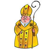 Sacerdote obispo papa iglesia católica religión cristianismo cruz — Vector de stock