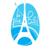 World famous landmark - Eiffel Tower Paris France — Stock Vector