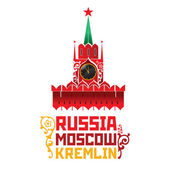World famous landmark - Russia Moscow Kremlin Spasskaya Tower — Vector de stock