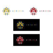 Vector illustration of Ukraine decorative Flower symbol — Stock Vector