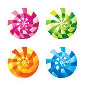 Lollipop Candy ball — Stock Vector