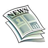 Vector illustration Newspaper daily media information headline — Stock Vector