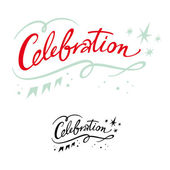 Celebration holiday event party birthday banner stars — Stock Vector