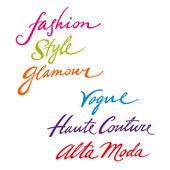 Fashion Style Glamour vogue haute couture alta moda — Stock Vector