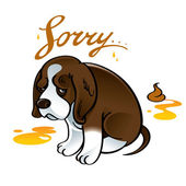 Sorry Sad Puppy — Stock Vector