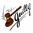 Guilty — Stock Vector