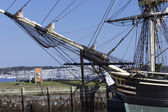 Historic Masts and prow — Stock Photo