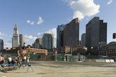 Boston street scene — Stock Photo