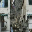 Amalfi backyard street — Stock Photo