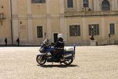 Motorcycle policeman — Stock Photo