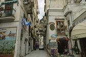 Amalfi backyard street — Stock Photo