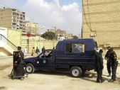 Egyptian policemen in Cairo — Stock Photo
