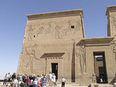 Philae Temple and tourists — Foto Stock