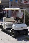 Golf cart in display — Stock Photo