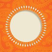 Orange paisley frame — Stock Vector